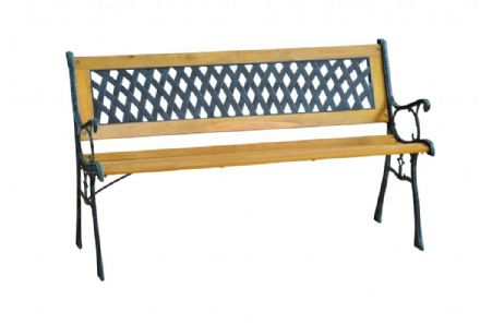 SupaGarden Garden Bench - Cross Slat Design